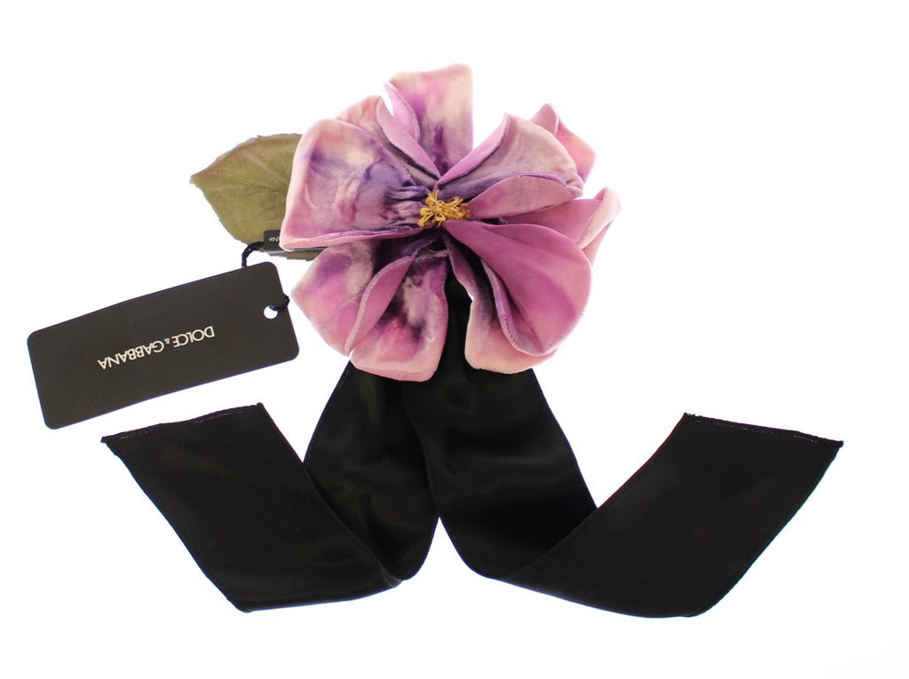 Pink Silk Flower Runway Brooch