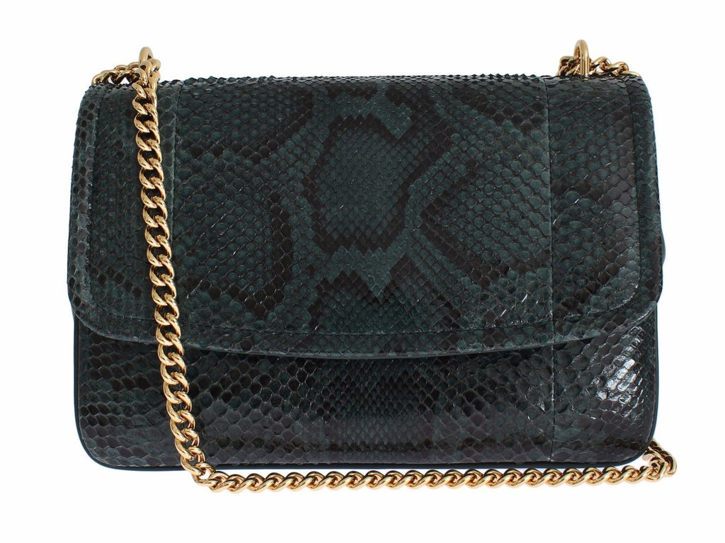 Bag Green Python Skin Leather MARGHERITA Purse
