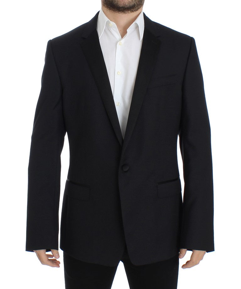 Blue wool slim MARTINI blazer