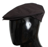 Purple Cotton Newsboy Cap