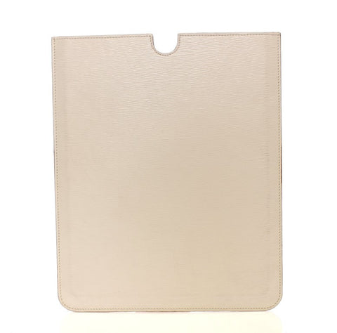 White Leather IPAD Tablet Case Cover