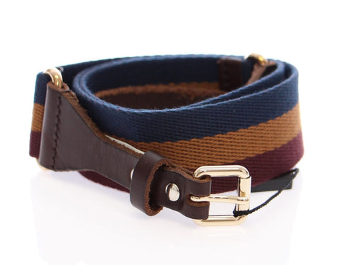 Multicolor Leather Logo Belt