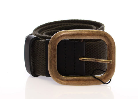 Green Fabric Logo Belt