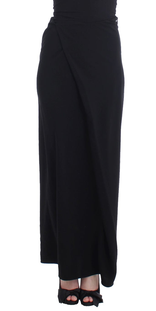 Black full length maxi skirt