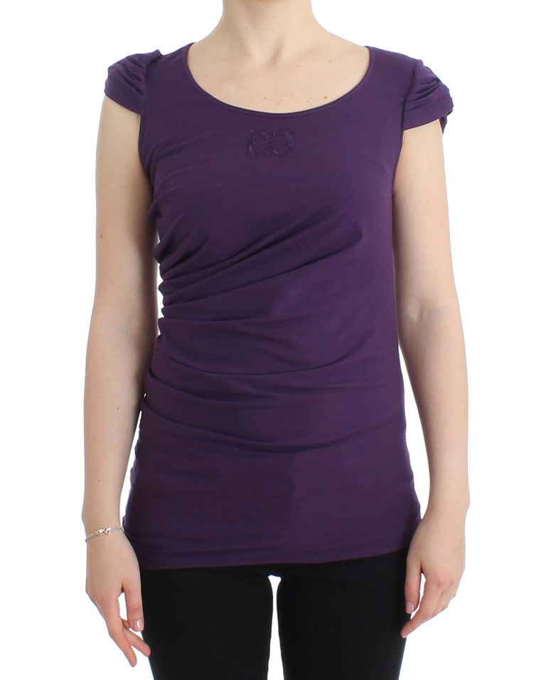 Purple cotton top
