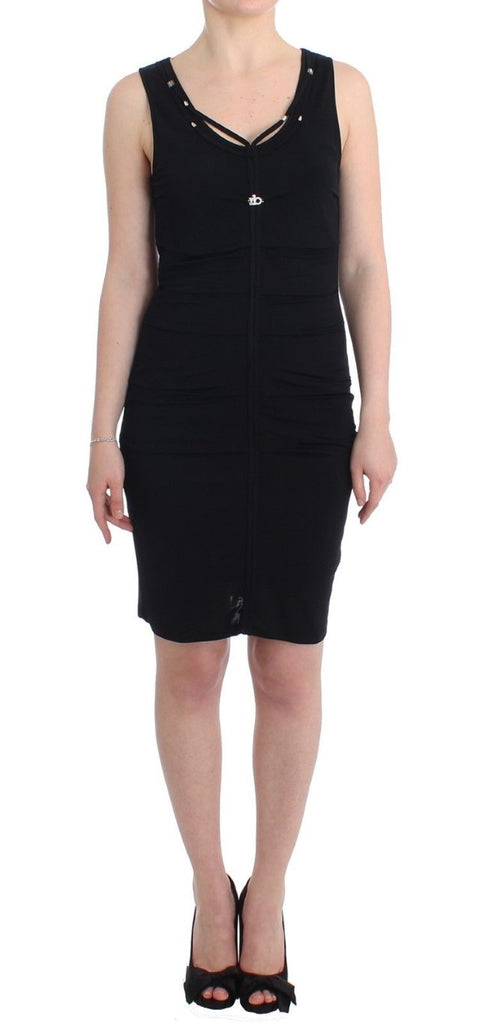 Black pencil sheath dress