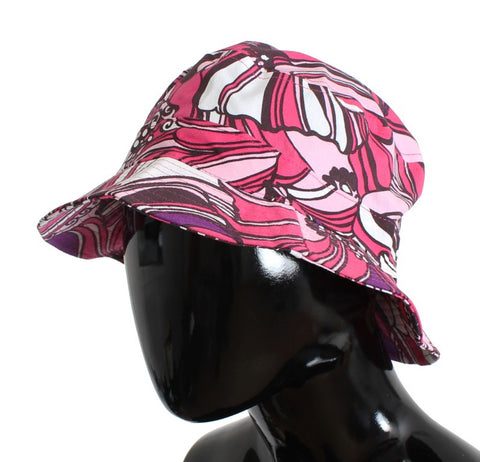 Pink Cotton Fisherman Beachwear Hat
