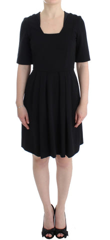 Black short sleeve venus dress