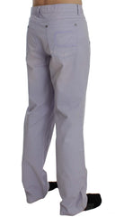 Purple Cotton Stretch Pants