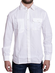 White casual cotton shirt