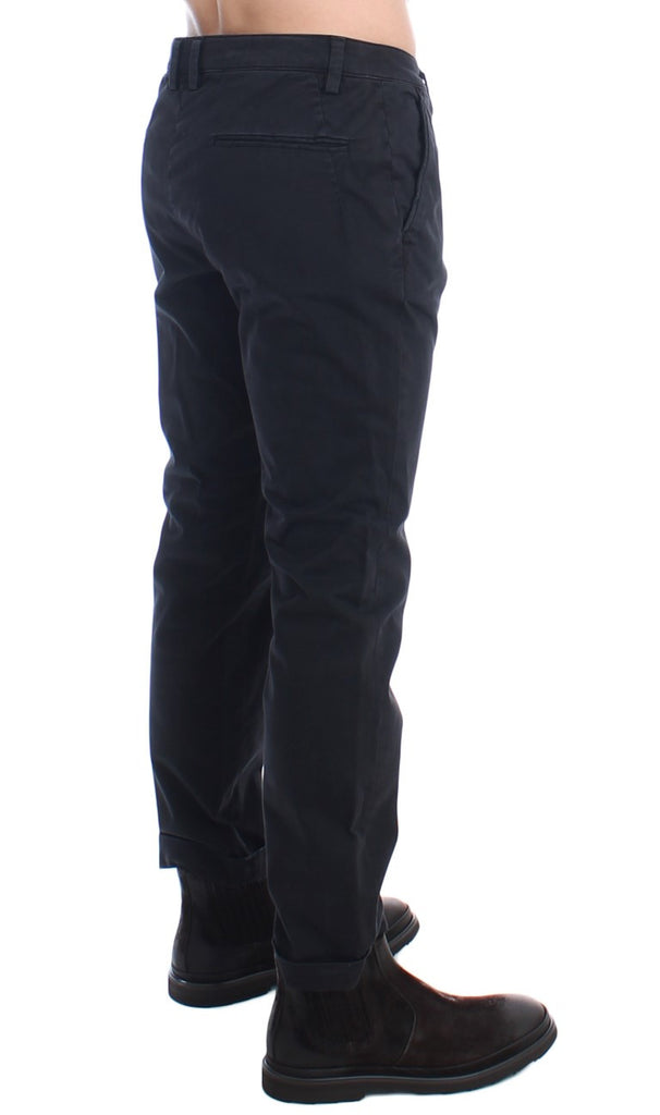 Black Slim Cotton Stretch Chinos Pants
