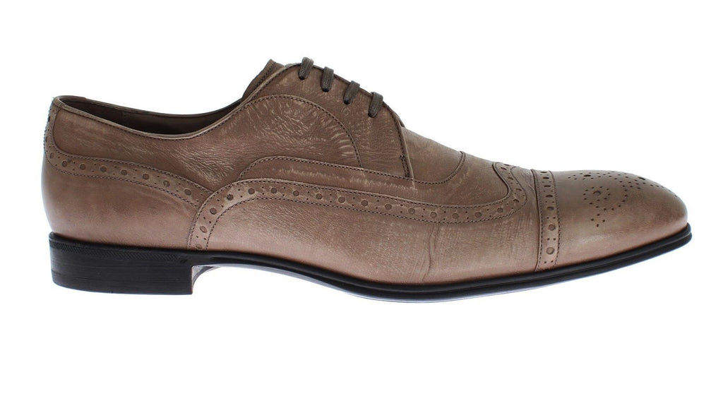 Light Brown Kangaroo Leather Laceups Shoes