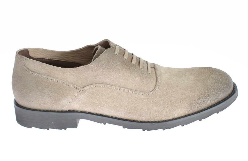 Beige Suede Leather Formal Dress Shoes