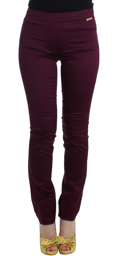 Purple slim fit pants