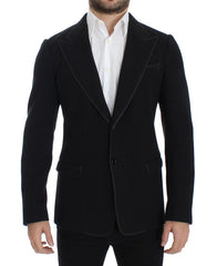 Gray wool two button slim blazer