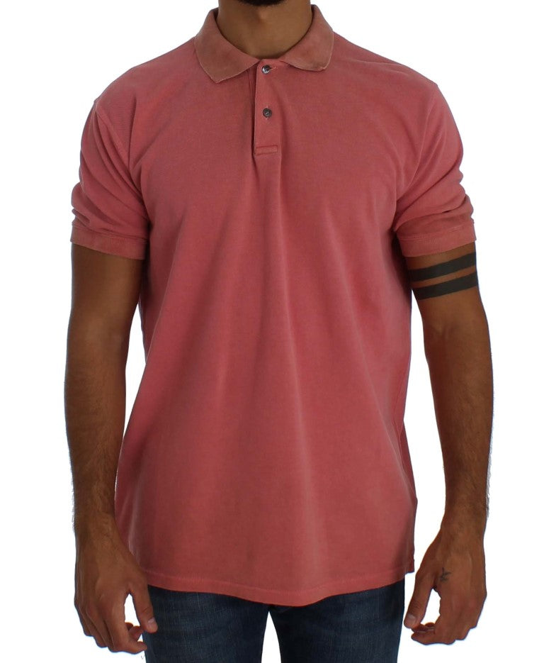 Pink Wash Cotton Polo Top T-shirt