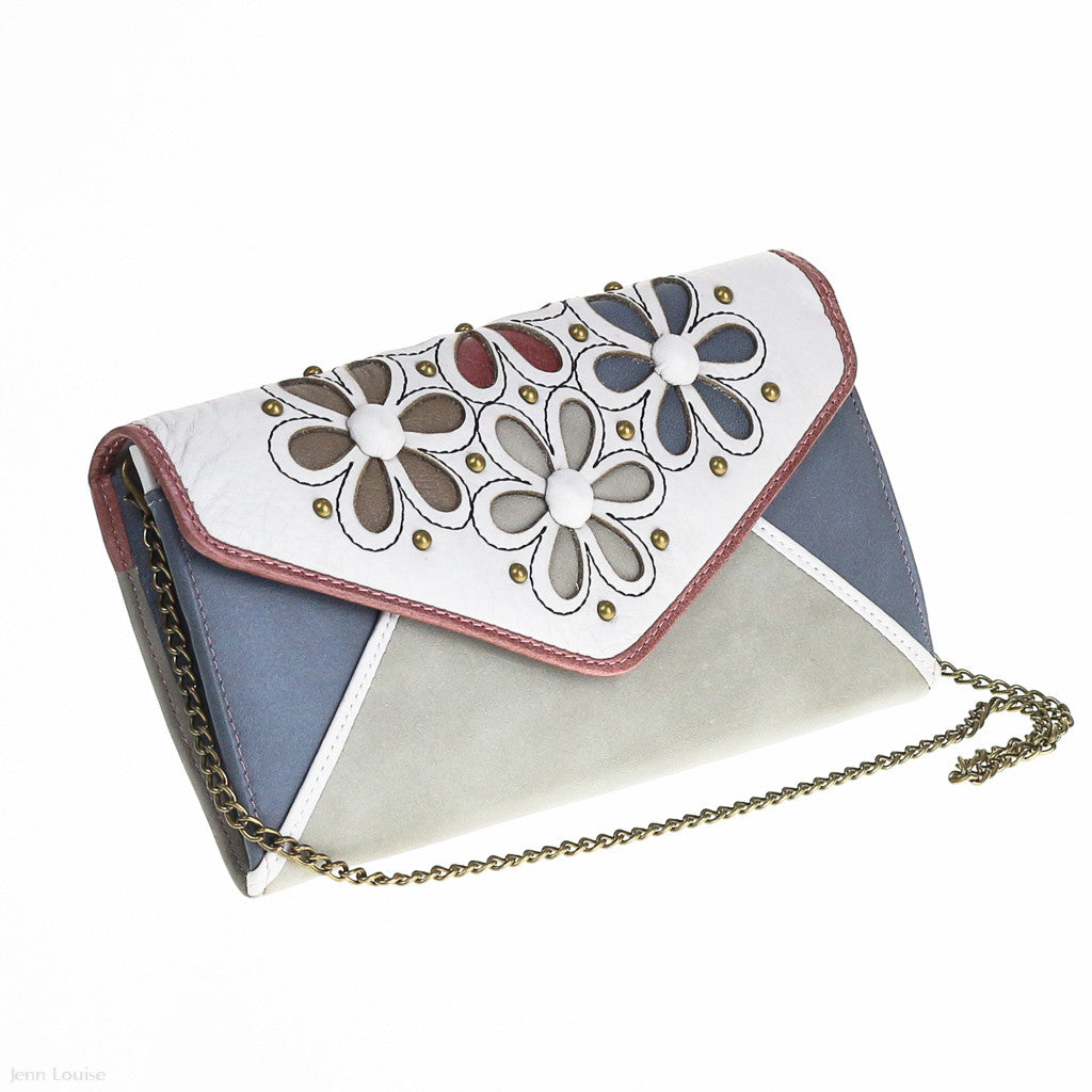 Tinkerbell Leather Clutch (Cream)