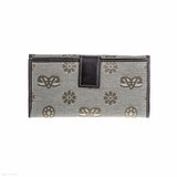 Fabric & Leather Wallet (Beige)