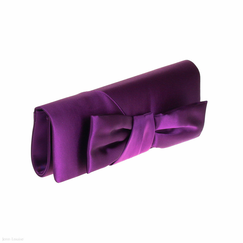 1418 Bow Clutch (Purple)