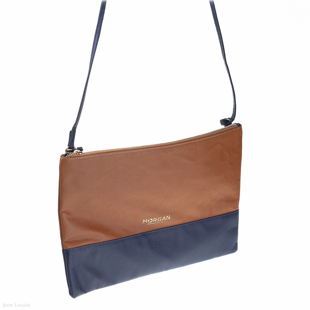 Pure 3 Shoulder Bag (Camel/Navy handbag)
