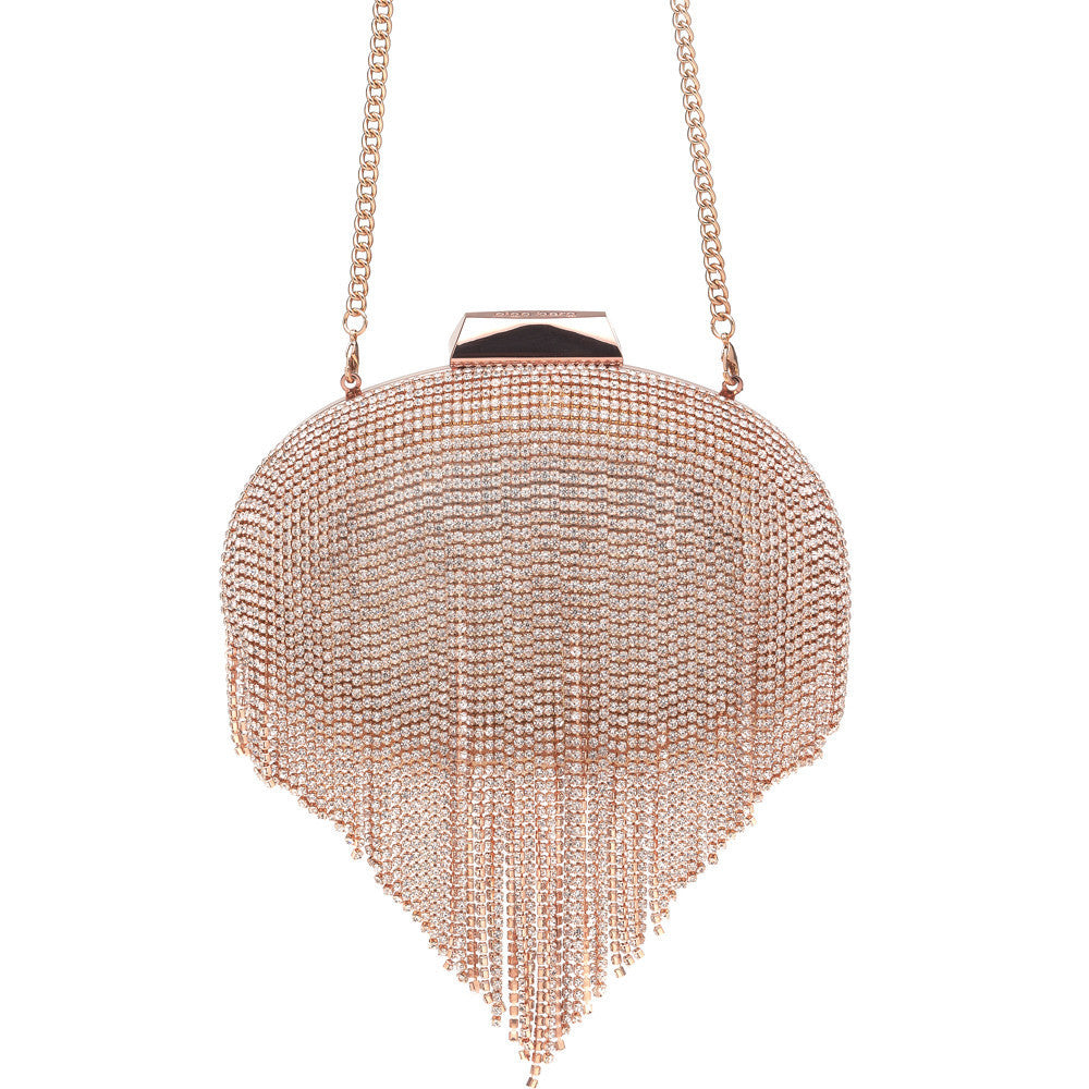 Olga Berg 'Estelle' Crystal Fringed Pod OB6262 (rose gold)