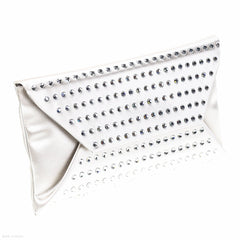 Satin Envelope Clutch (Oyster)