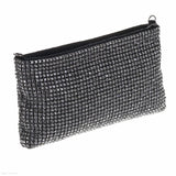 Soft Crystal Clutch (Gunmetal)