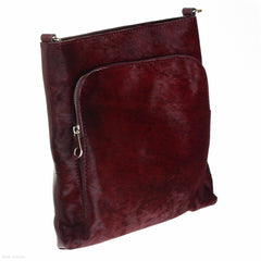 Pony Leather Shoulder Bag (Ruby handbag)