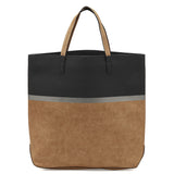 Sashenka 'Rue' Block Stripe Shopper Tote handbag - SA8163 (black)