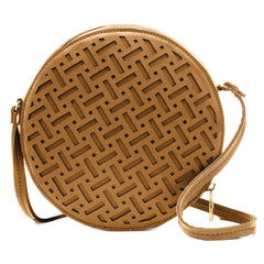 Sashenka 'Pixie' Laser Cut Shoulder Bag - SA8187 (tan handbag)