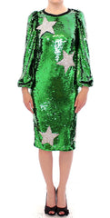 Masterpiece green sequined crystal swarovski dress