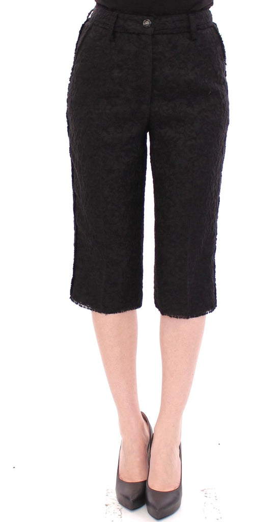 Black wool shorts pants