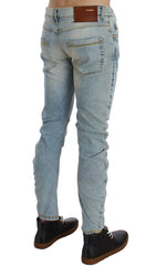 Light Blue Cotton Stretch Slim Fit Jeans