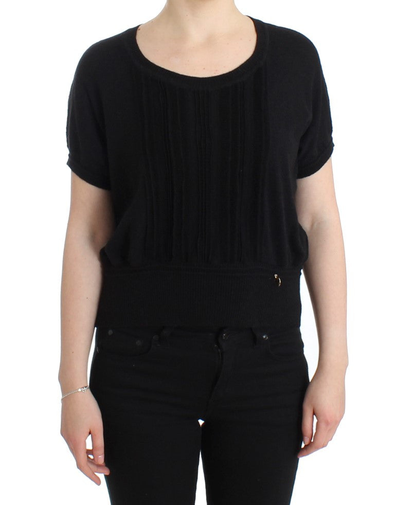 Black short sleeved jumper