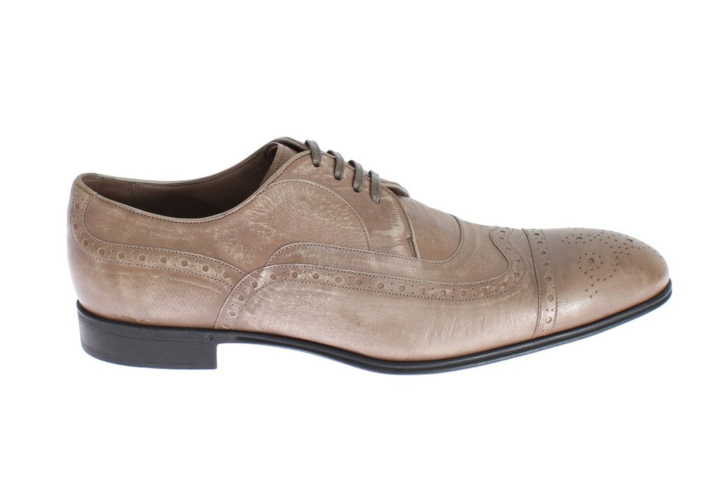 Beige Kangaroo Oxford Dress Formal Shoes