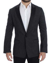 Black wool slim MARTINI blazer