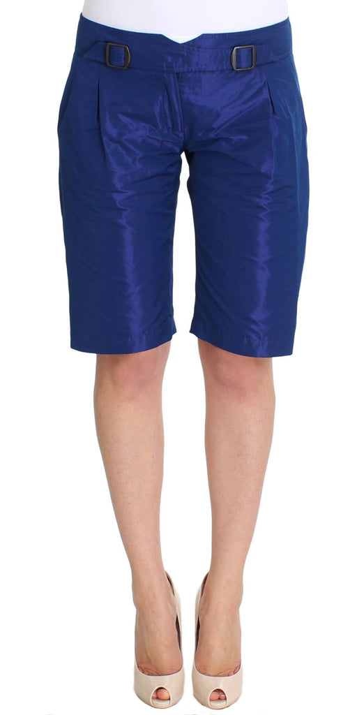 Blue Above Knees Bermuda Shorts