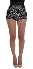 Black Crystal Sequined Mini Shorts