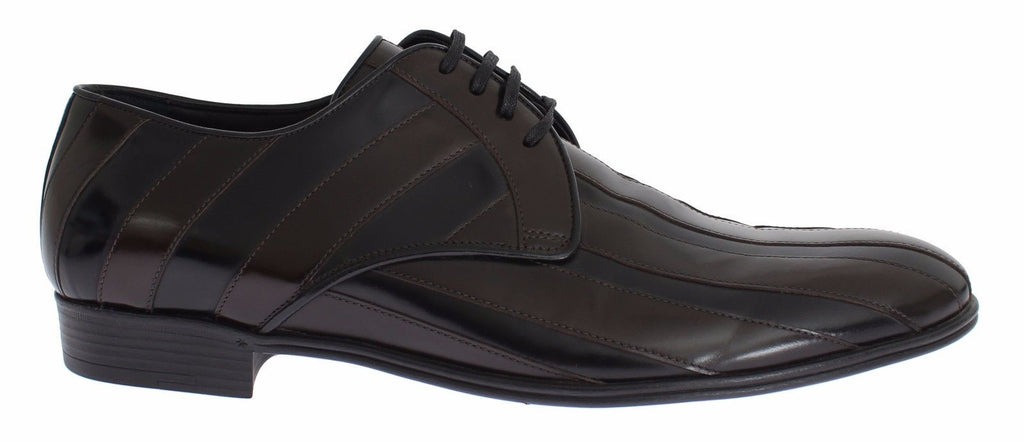 Black Brown Leather Dress Formal Shoes