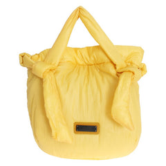 Yellow nylon shoulder bag
