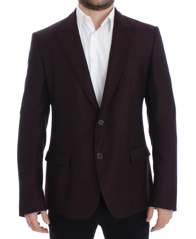 Bordeaux wool slim fit blazer