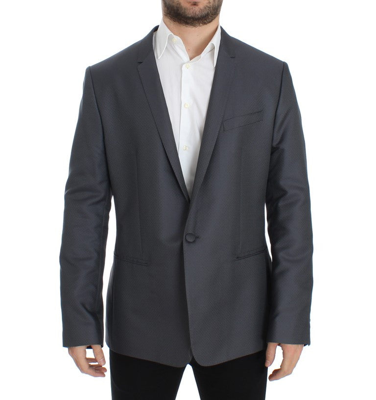 Gray shiny GOLD slim fit blazer