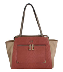 Pink Nude Hand Shoulder PVC Satchel Bag