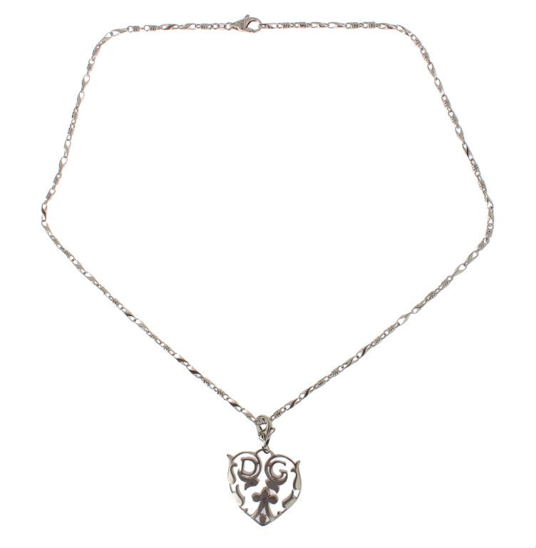 Silver (925) Heart Charm Necklace
