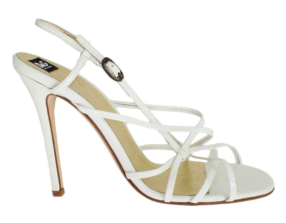White Leather Sandals Pumps