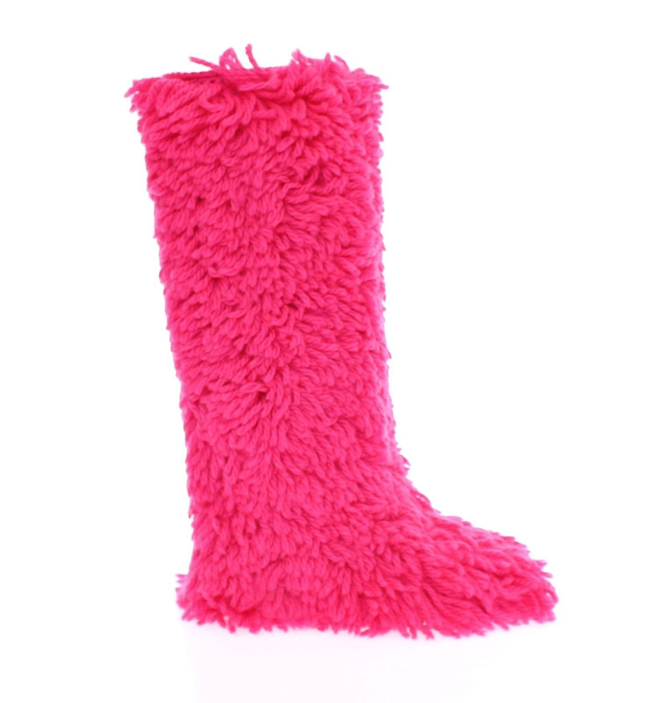 Pink Wool Runway Boots Shoes