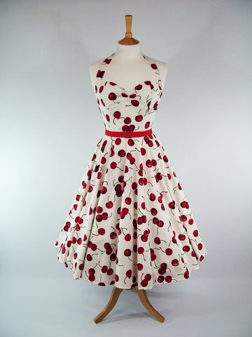 Cherry Print Cotton Full Circle Dress