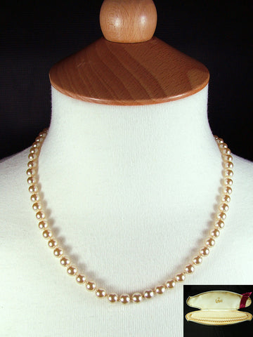 "18"" Vintage Re-Strung Boxed Faux Pearls"