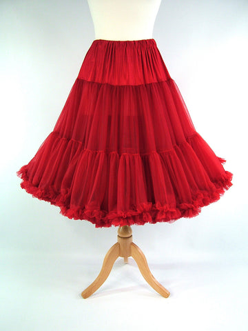 Soft & Fluffy Chiffon Petticoat - Red