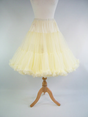Soft & Fluffy Chiffon Petticoat - Cream
